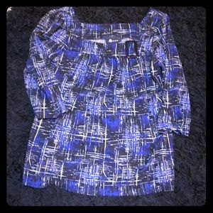 SZ M  AB Studio  Black Blue and White